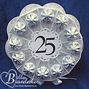 Torten for Silberhochzeit geschenk basteln