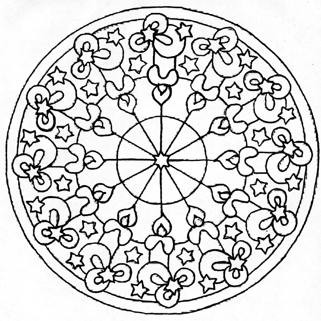 30 Easy Mandalas For Beginners Adult Coloring Book Sacred Mandala Designs And P